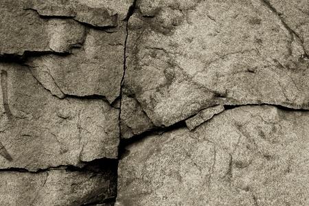 Cracked stone background close up. Sepia. Stock Photo - 9966827
