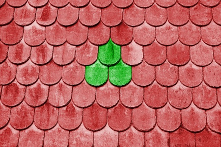 abstract roof tile close up background photo