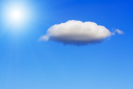 Lonely cloud on blue sky. Stock Photo - 11279784