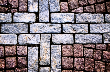 brick road: The fragment of a pavement.