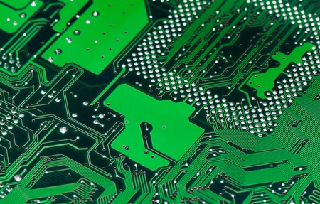 Electronic circuit board close up. photo