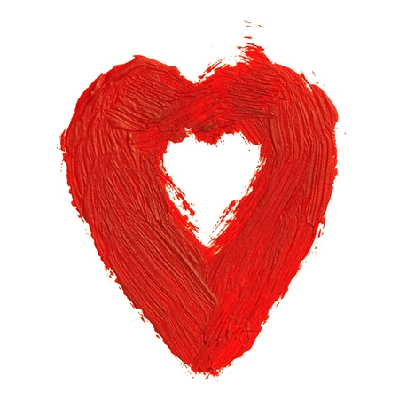 The abstract heart. This drawing painted of an oil paint. Stock Photo - 12202420