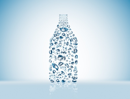 water bubbles in the shape of bottle photo