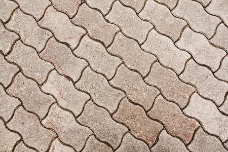 cobblestone pavement - fragment close up photo