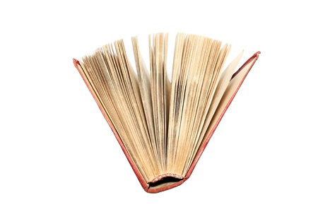 The open book. Top view.