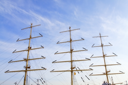 The masts of the yachts against sky. Stock Photo - 13631524