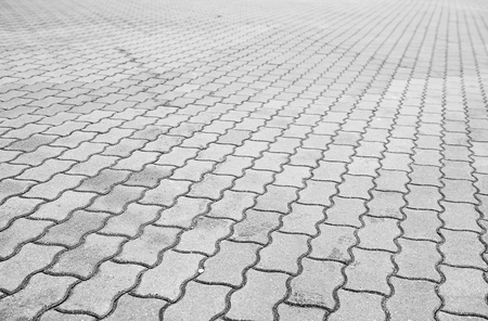 The fragment of a pavement. Black and white. Stock Photo - 13631571