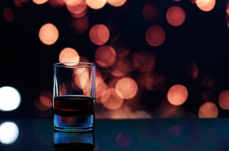 simple life: The whisky glass close up.