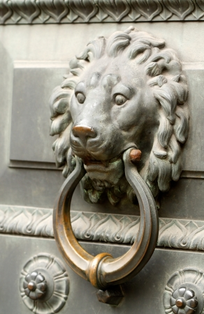The door handle in the Saint-Petersburg, Russia. photo