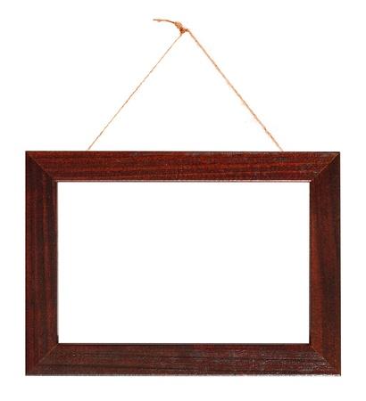 The photo frame on white.