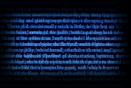 abstract digital text on a screen Stock Photo - 16731463