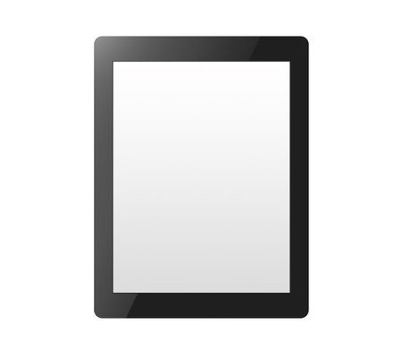 this is simple pattern of a tablet pc, tablet computer or a digital book without buttons and logo Stock Photo - 17219113
