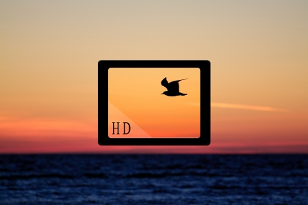 concept - tablet pc and HD quality of image Stock Photo - 17219272