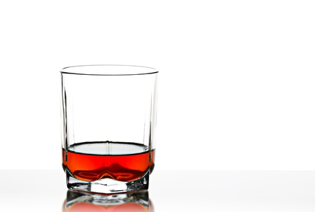 signle: The whisky glass close up.