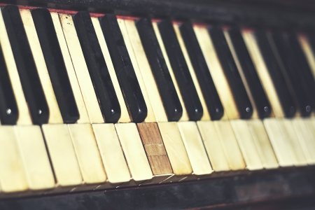 vintage piano keys close up Stock Photo - 18657064