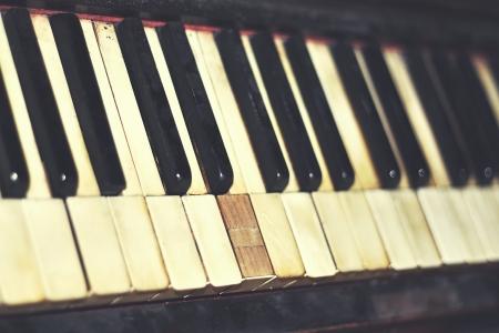 vintage piano keys close up Stock Photo - 18657064