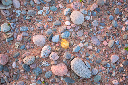 background of the beach - sand and stones photo