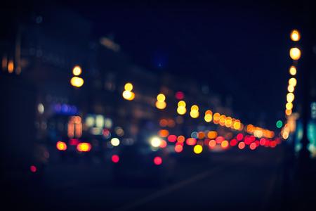 Traffic lights of the night city road. Zdjęcie Seryjne - 25749439