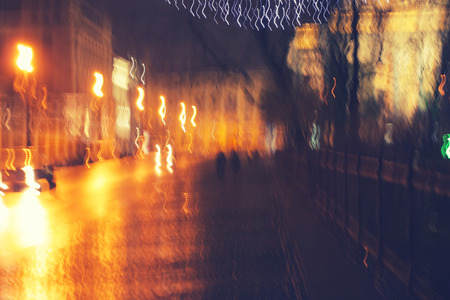 night city life, abstract view photo