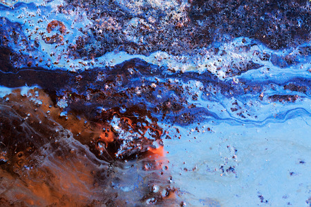Oil Slick close up - abstract background