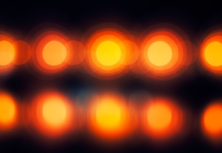 defocused street lamps and reflection on a water, natural photo image photo
