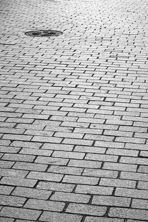 cobblestone pavement on a square photo