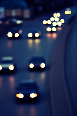 the traffic lights: night city life - traffic lights Stock Photo