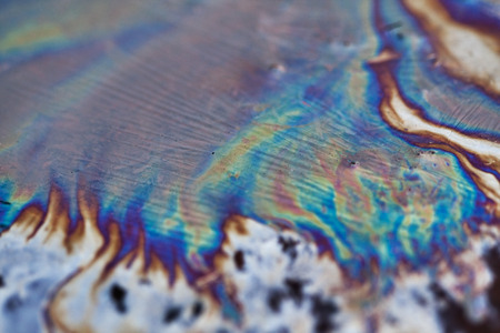 slick: Oil Slick close up - abstract background