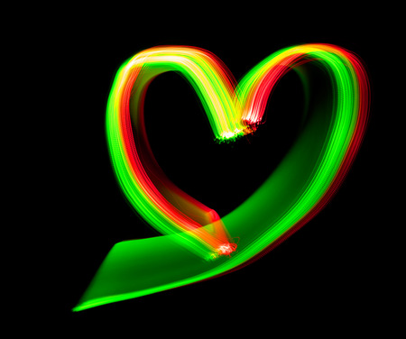 light painting: shape of heart - abstract Light Painting, Freezelight effect