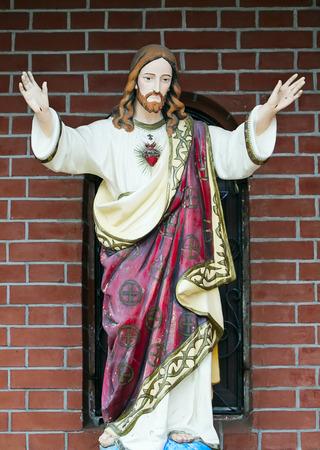 catholicism: Jesus Christ - a catholicism statue. Stock Photo