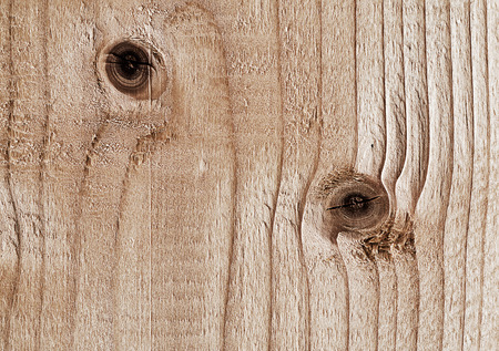 panelling: wooden pattern of knotted old board Stock Photo