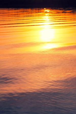orange sunset: orange sunset on a lake
