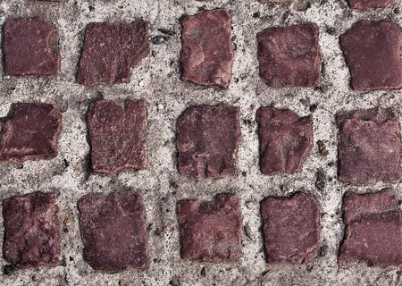 vintagel: ancient cobblestone pavement on a square