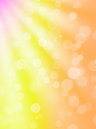 summer's: summers optimistic bokeh - abstract background Stock Photo