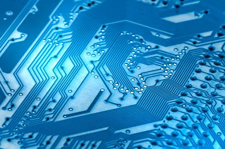 Electronic circuit board close up. X-ray effect. Foto de archivo