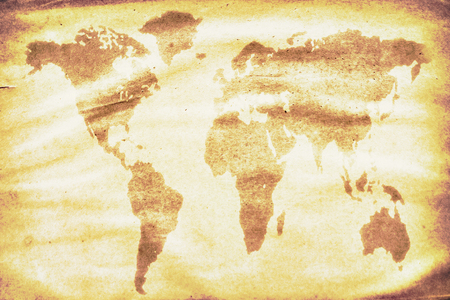 the outdated: outdated world map watermark on the grunge paper