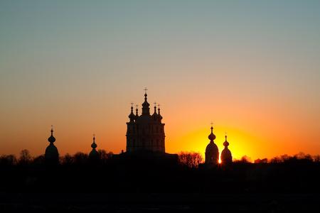 サンクトペテルブルク、ロシアでスモーリヌイ聖堂。建築家フランチェスコ ・ バルトロメオ ・ ラストレッリ
