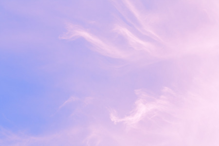 unusual light clouds in the sky Stock Photo