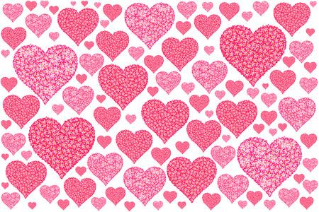 flower pattern for a heart shape. photo