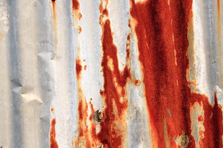 metal sheet: background rusted at the metal sheet.