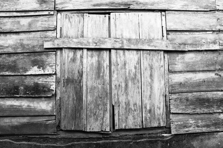 Beautiful old wood window for background photo