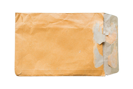 old envelope: The old  envelope on a white background