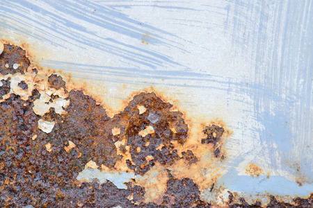 deteriorate: Blue steel metal with rust texture Stock Photo