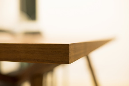 dinning table: Abstract Edge of wooden dinning table
