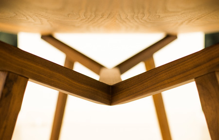 dinning table: Abstract under of wooden dinning table