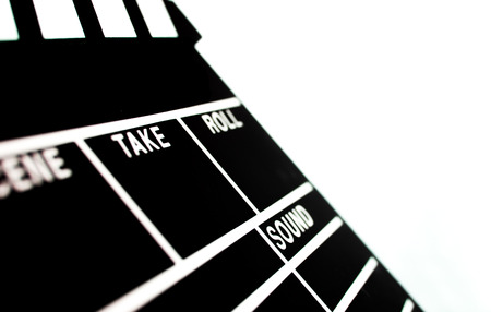 filmmaker: Abstract Clapperboard isolated on white background