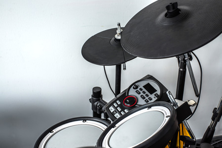 drum and bass: Electronic drum set in a small room