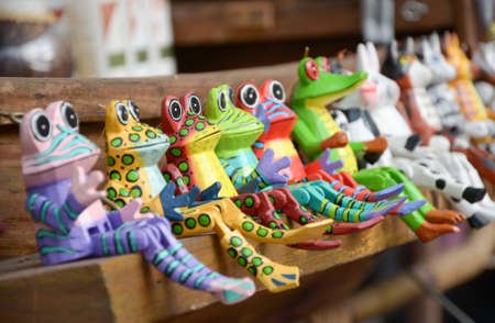 Frogs  toy  colourful Stock Photo - 14182655