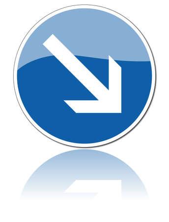 freccia destra: cartello stradale