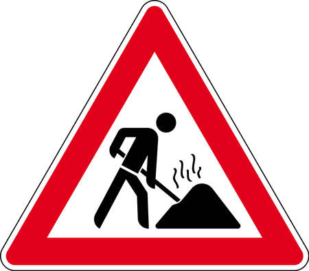 no fires: road sign Stock Photo